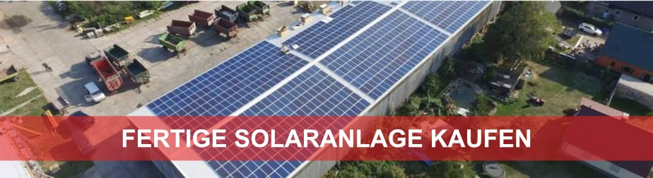 Fertige Photovoltaikanlage kaufen